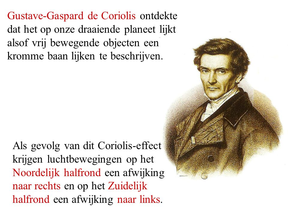 Gustave-Gaspard de Coriolis ontdekte