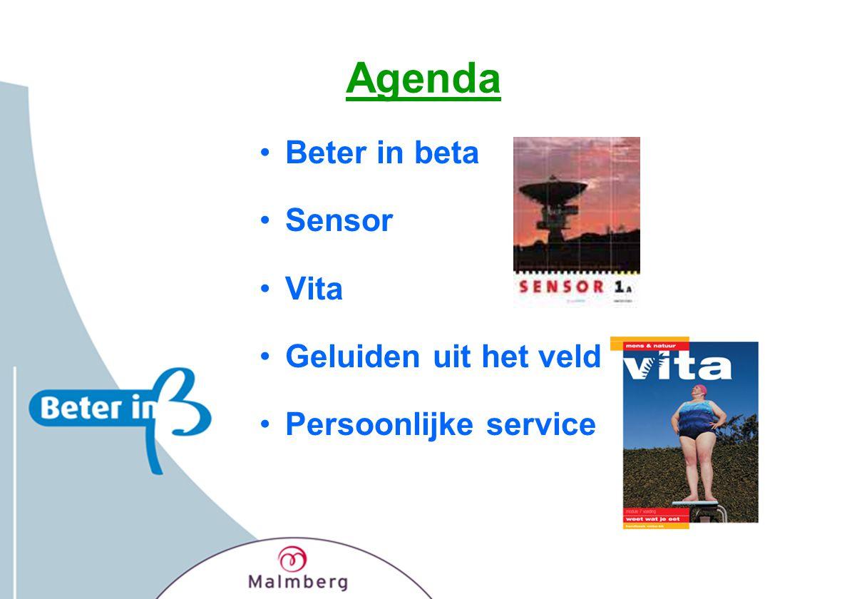 Agenda Beter in beta Sensor Vita Geluiden uit het veld