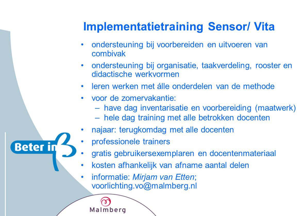 Implementatietraining Sensor/ Vita