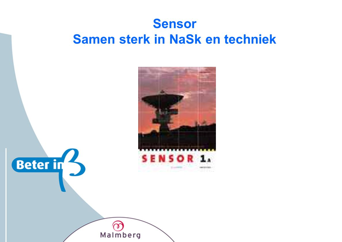 Sensor Samen sterk in NaSk en techniek