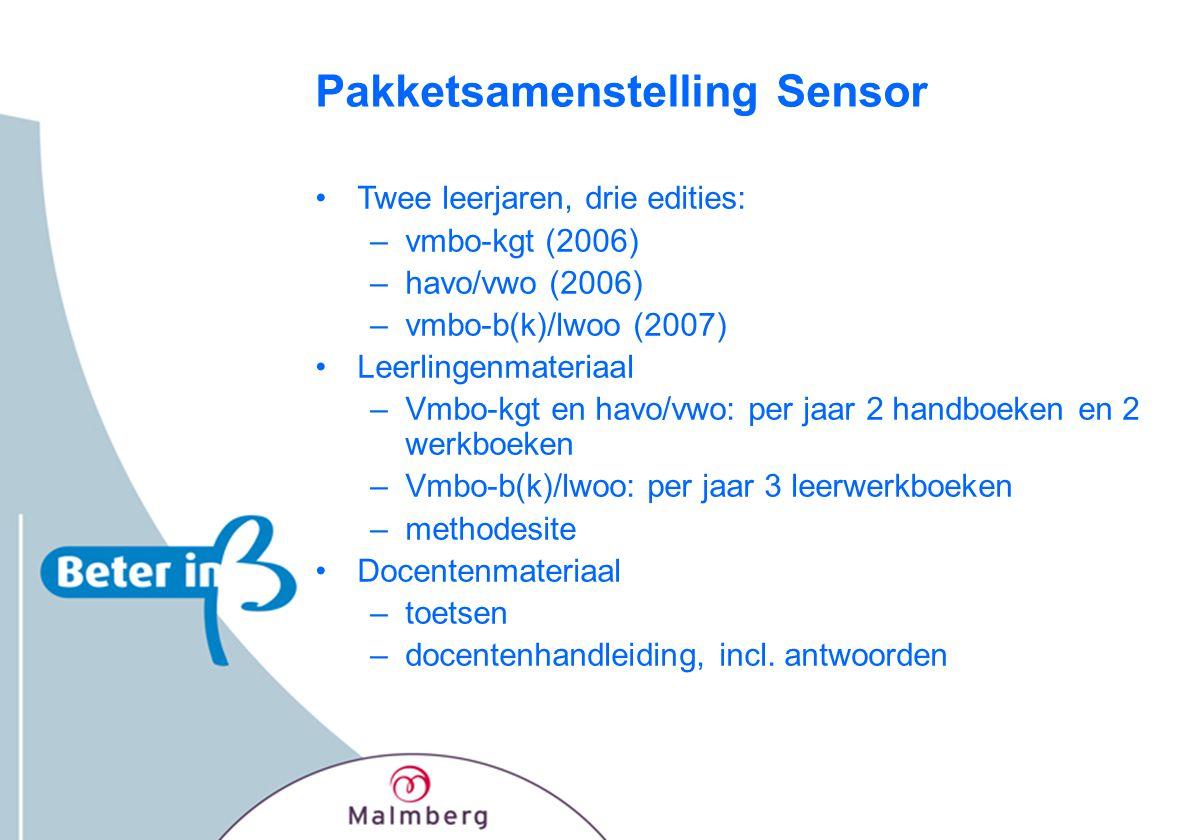 Pakketsamenstelling Sensor