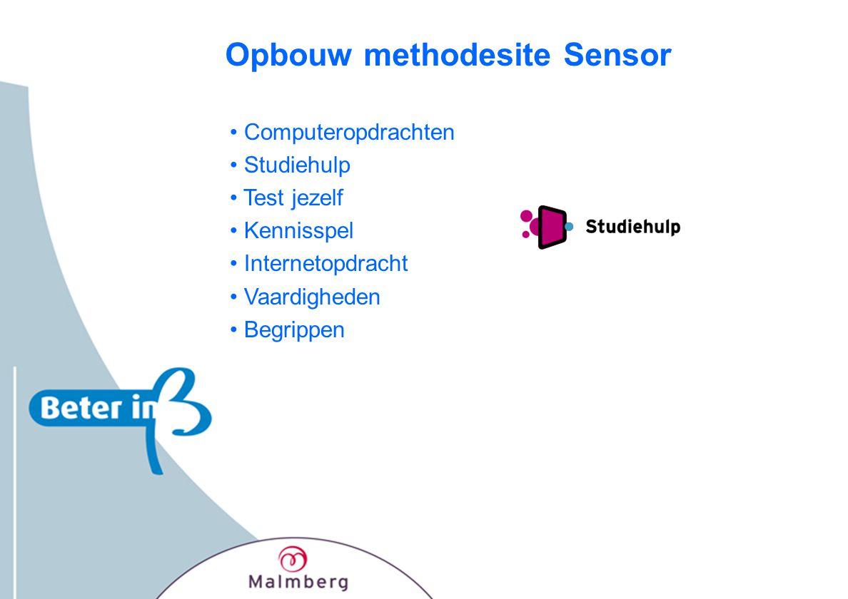Opbouw methodesite Sensor