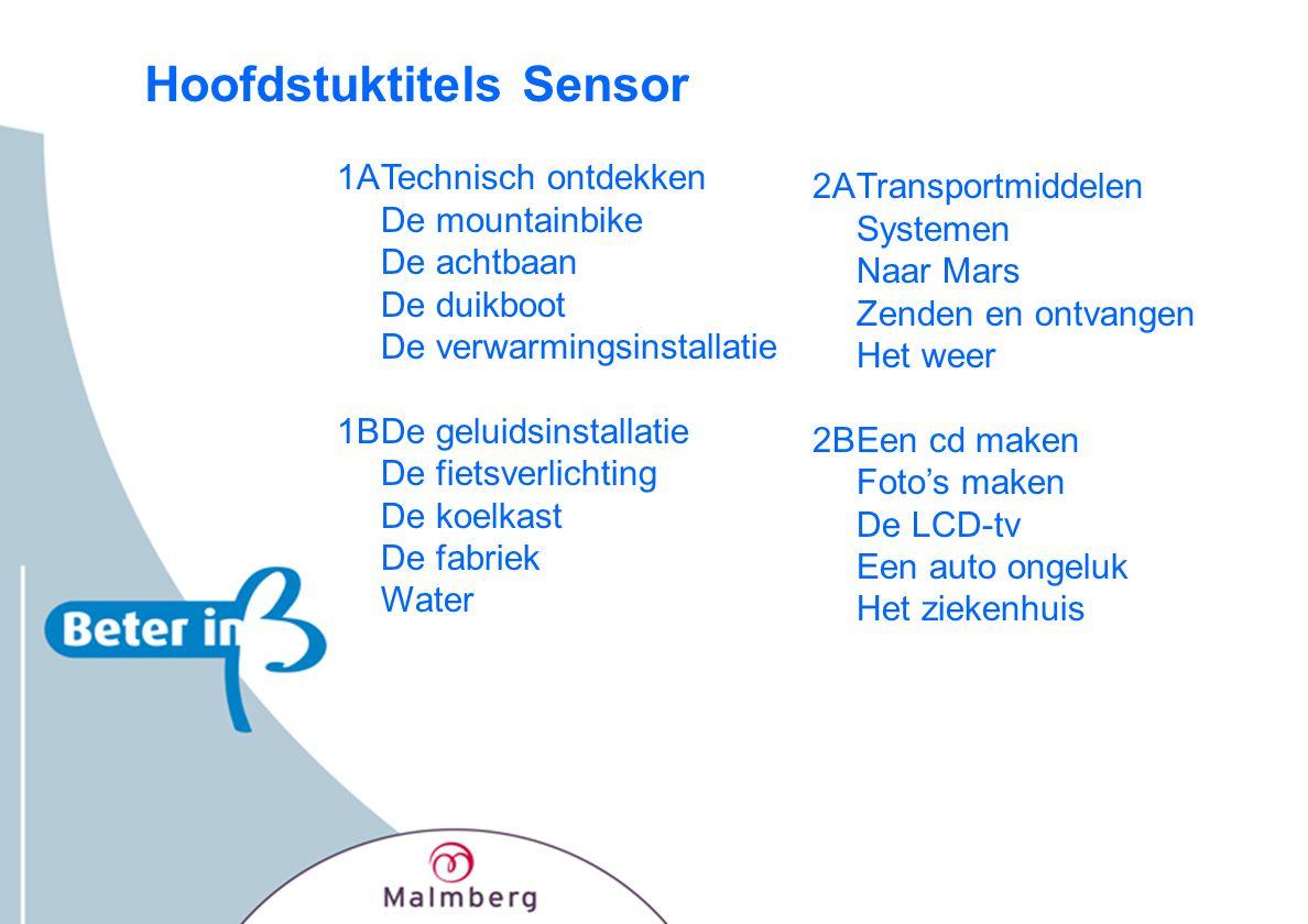 Hoofdstuktitels Sensor