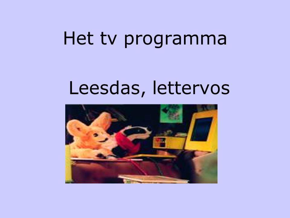 Het tv programma Leesdas, lettervos