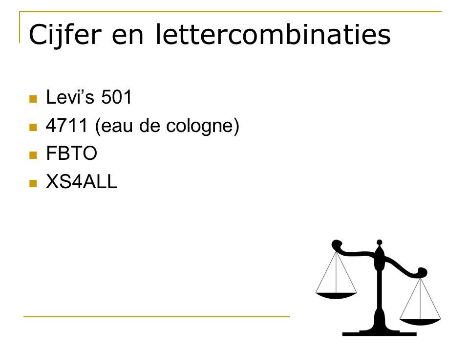 Cijfer en lettercombinaties