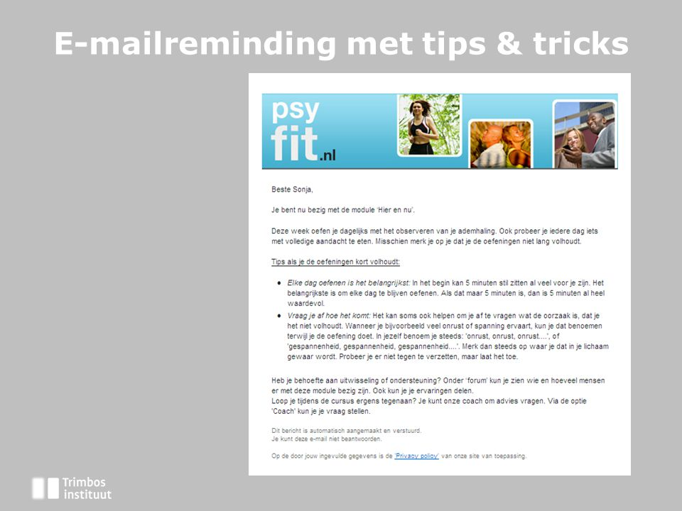 E-mailreminding met tips & tricks