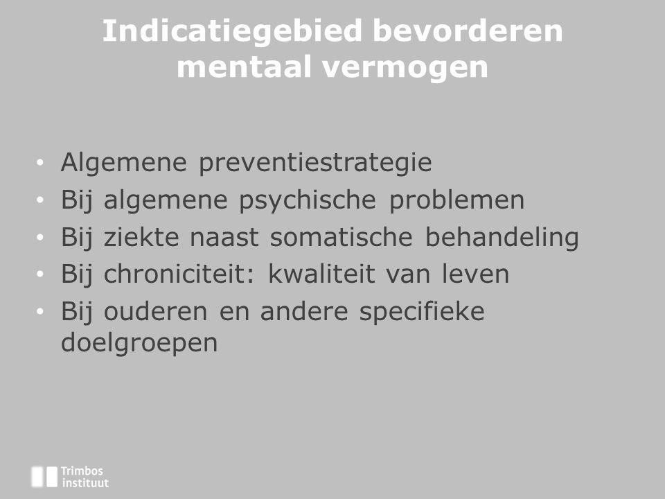 Indicatiegebied bevorderen mentaal vermogen