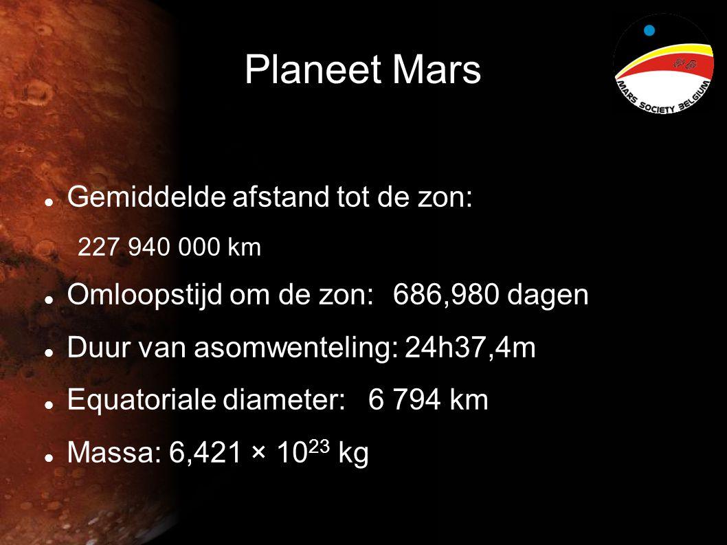 Planeet Mars Gemiddelde afstand tot de zon: