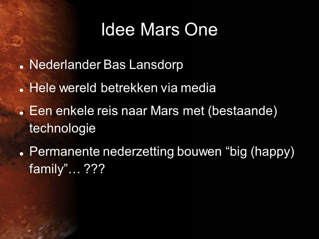 Idee Mars One Nederlander Bas Lansdorp Hele wereld betrekken via media
