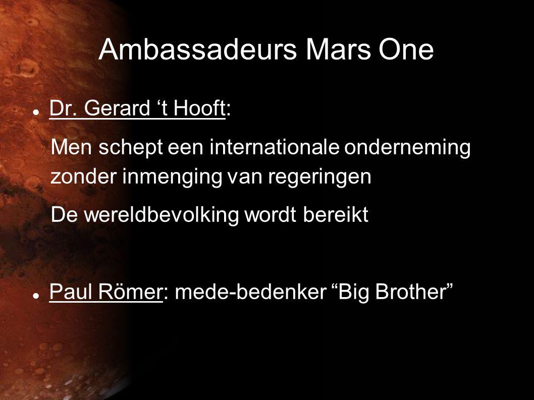 Ambassadeurs Mars One Dr. Gerard 't Hooft: