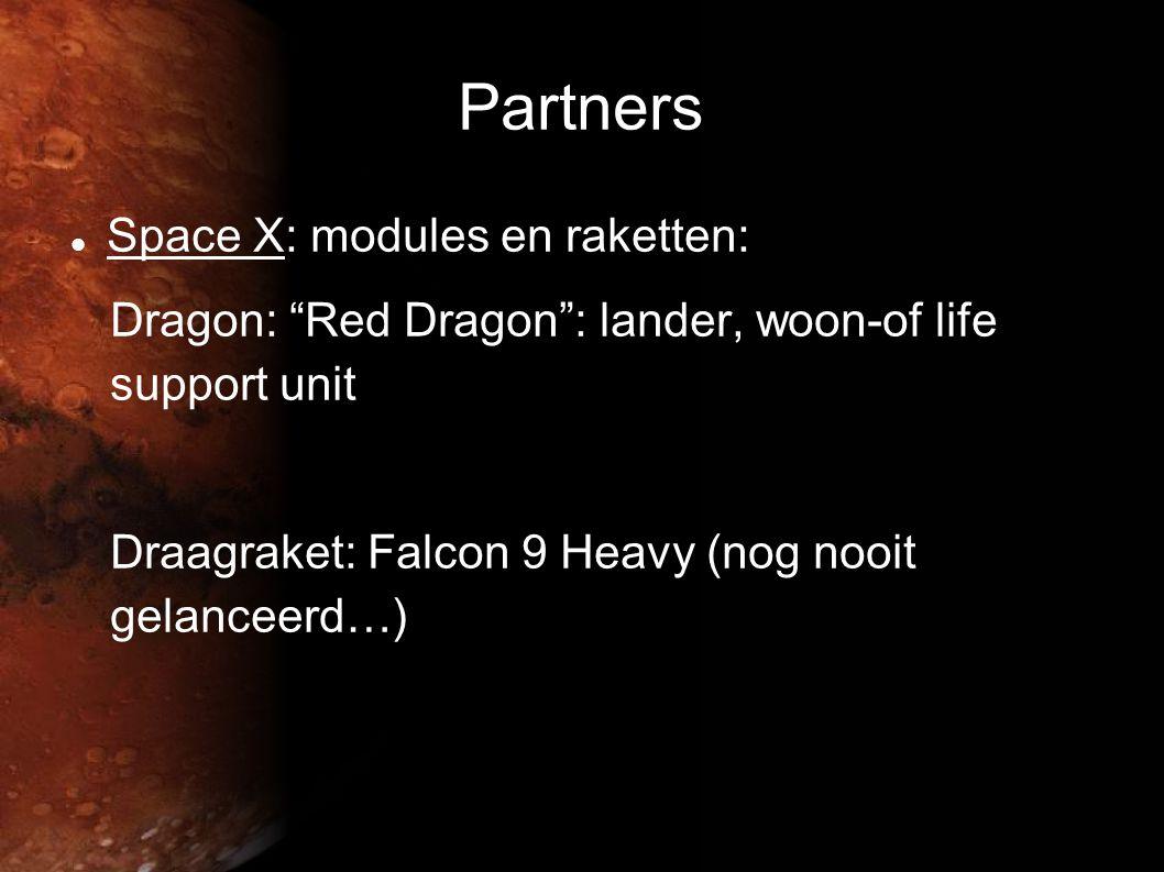 Partners Space X: modules en raketten: