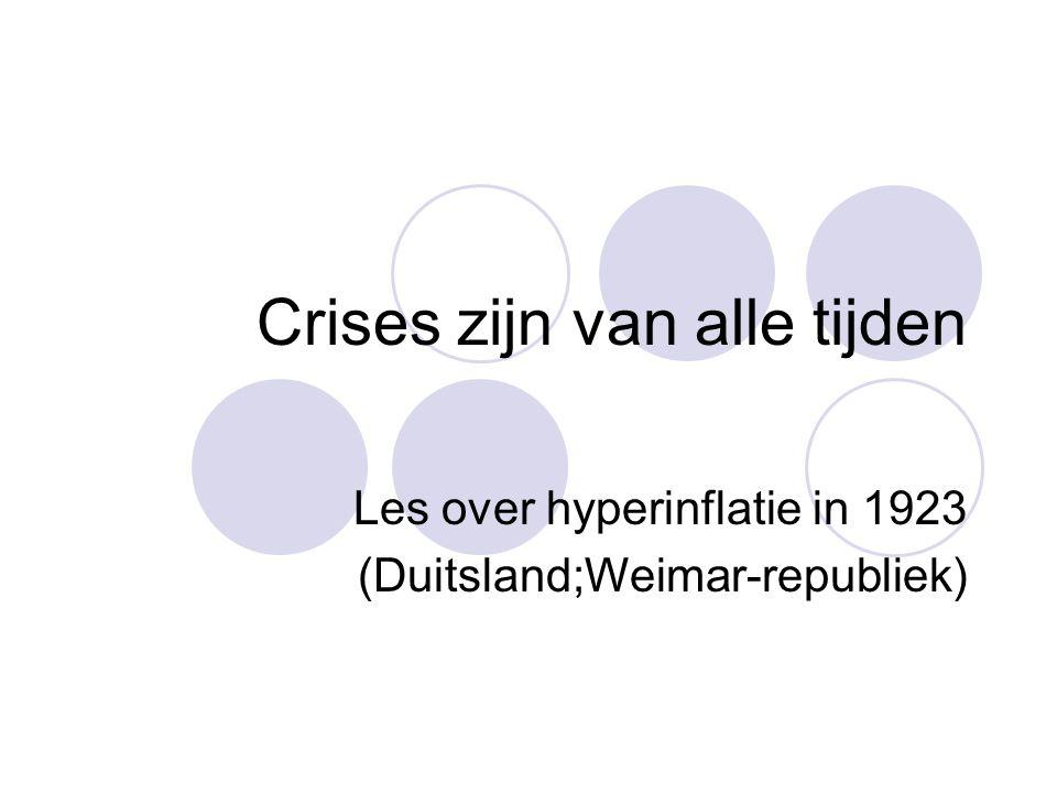Crises zijn van alle tijden