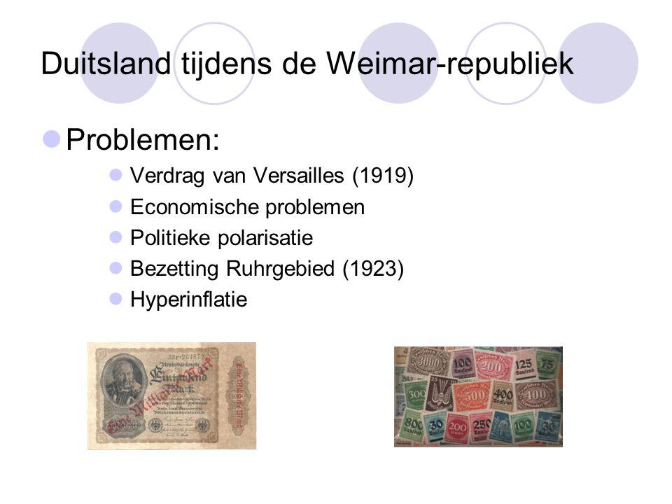 Duitsland tijdens de Weimar-republiek