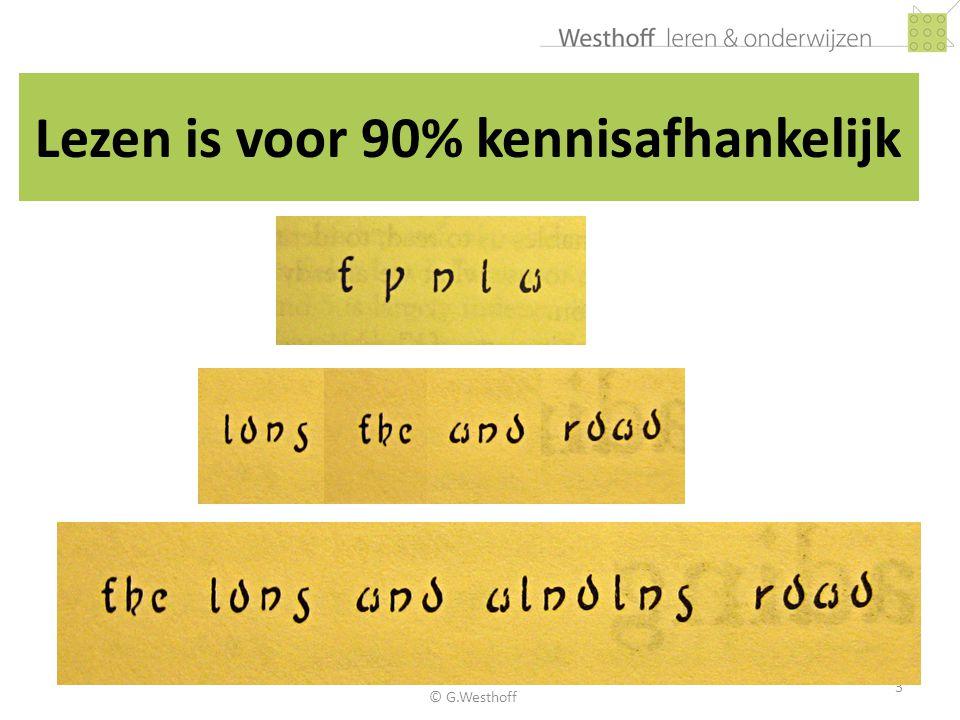 Lezen is voor 90% kennisafhankelijk