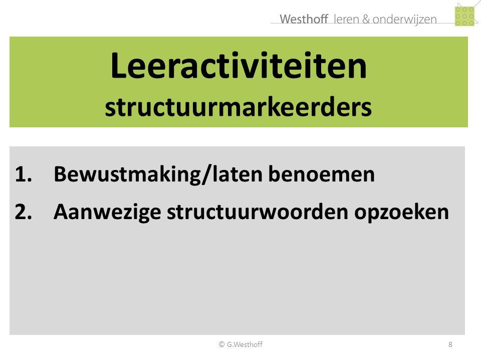Leeractiviteiten structuurmarkeerders