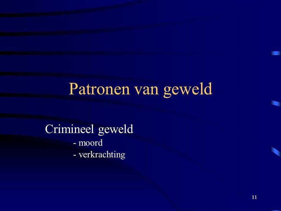Crimineel geweld - moord - verkrachting