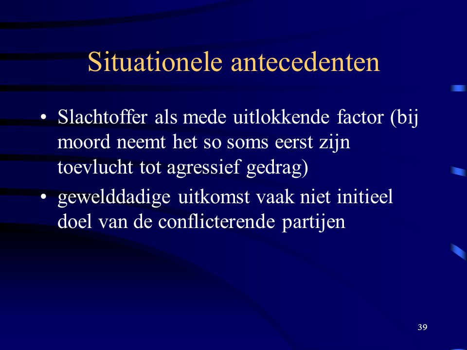 Situationele antecedenten