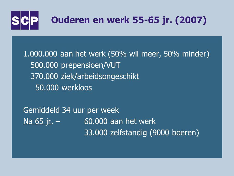 Ouderen en werk 55-65 jr. (2007)