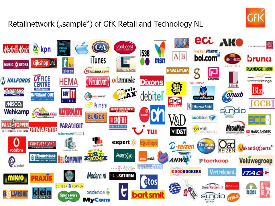"Retailnetwork (""sample ) of GfK Retail and Technology NL"