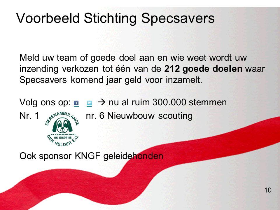 Voorbeeld Stichting Specsavers