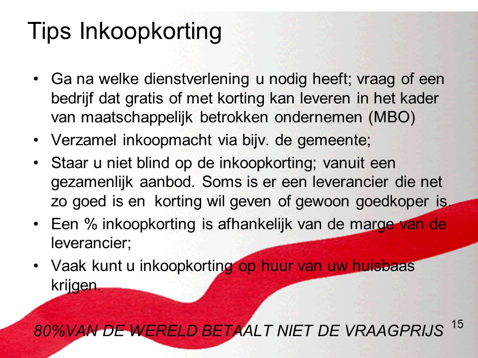 Tips Inkoopkorting