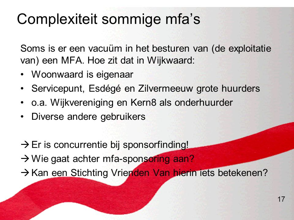 Complexiteit sommige mfa's