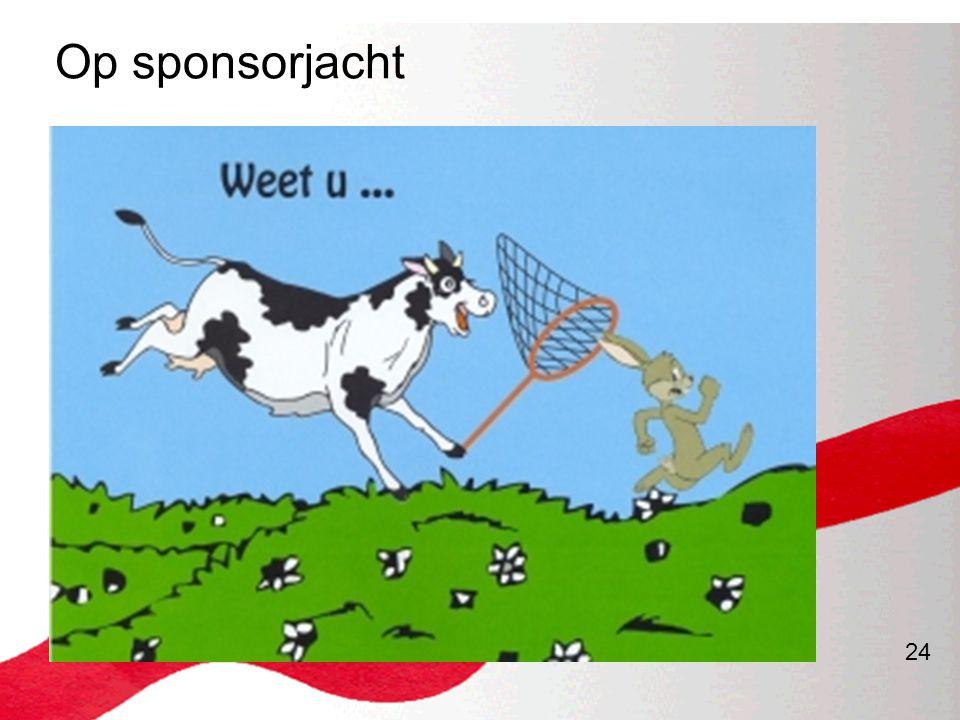 Op sponsorjacht
