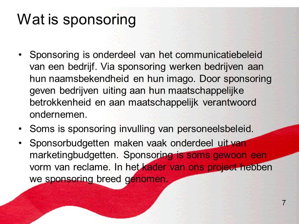 Wat is sponsoring