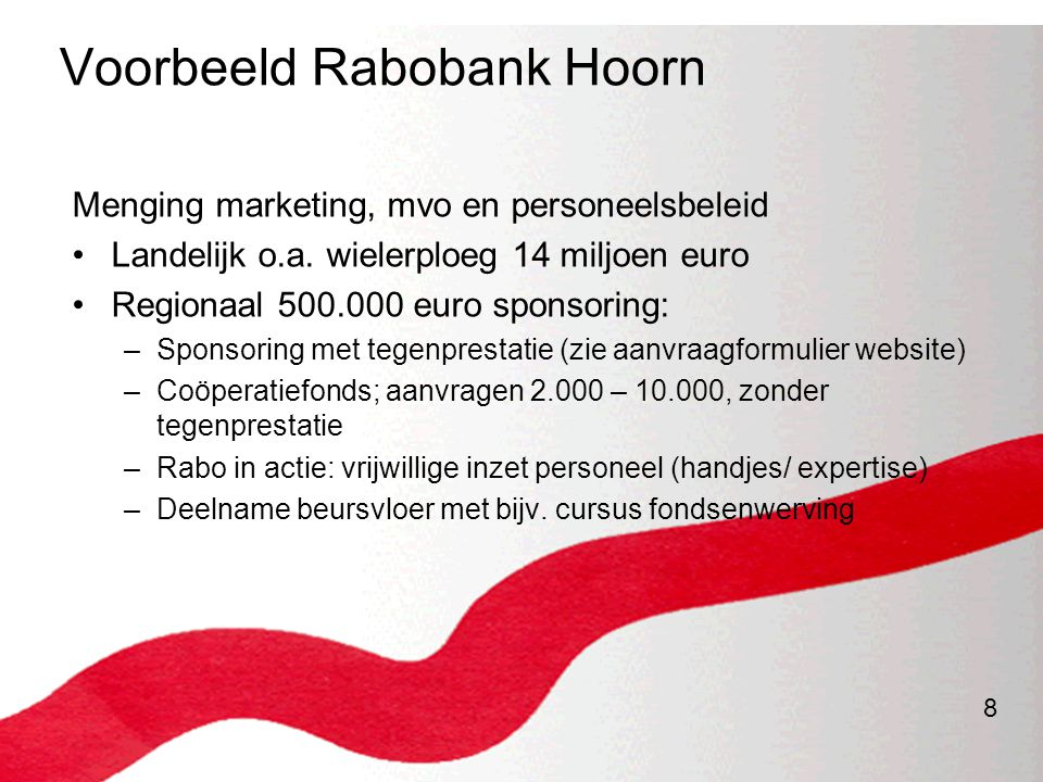 Voorbeeld Rabobank Hoorn