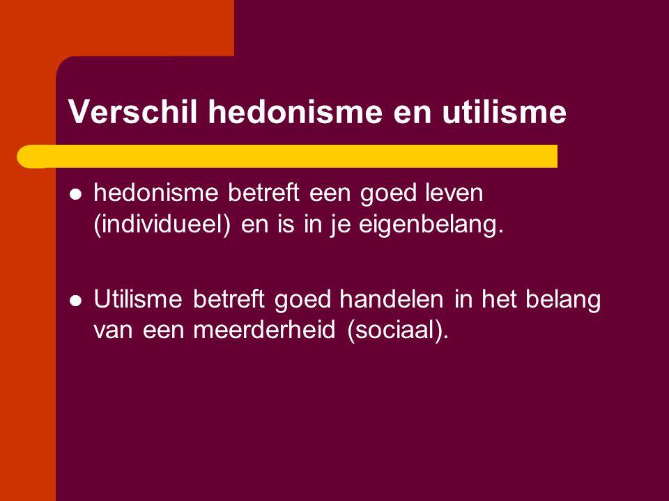 Verschil hedonisme en utilisme