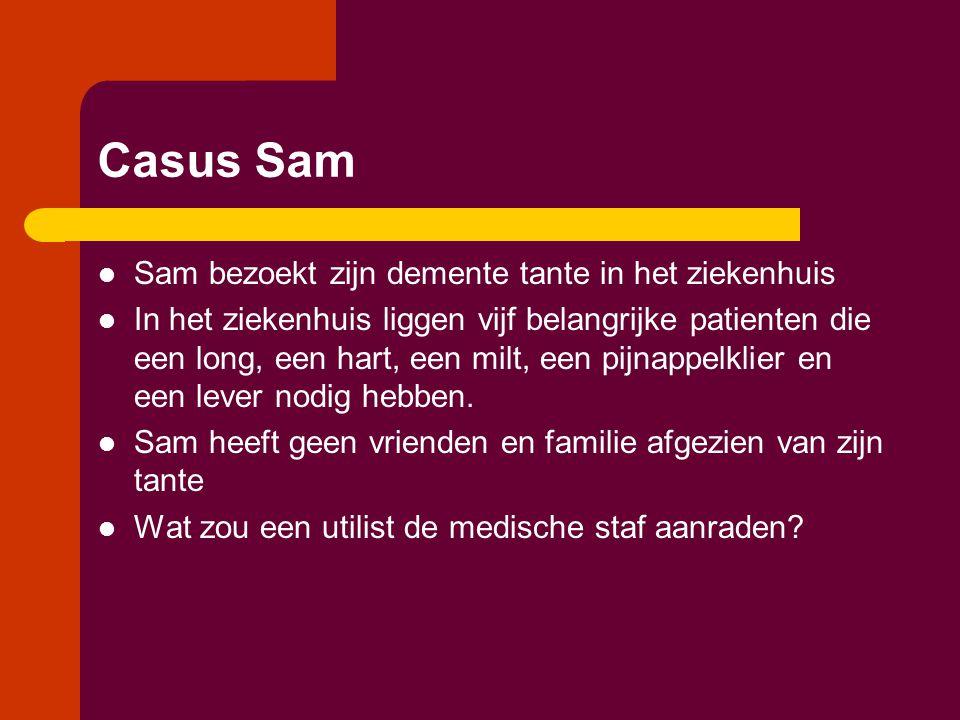 Casus Sam Sam bezoekt zijn demente tante in het ziekenhuis