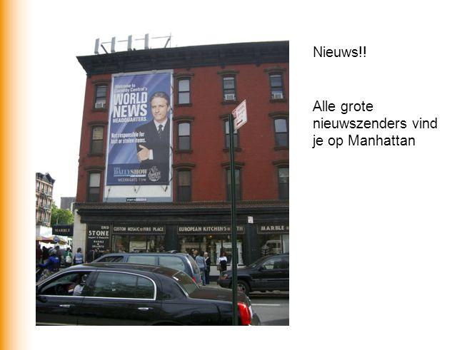 Nieuws!! Alle grote nieuwszenders vind je op Manhattan