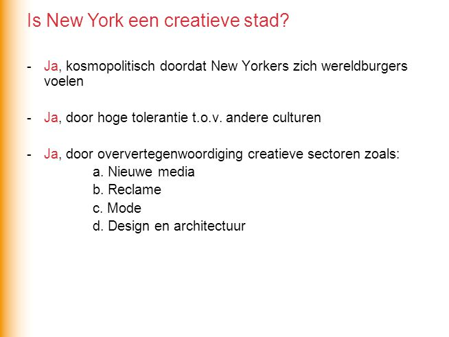 Is New York een creatieve stad