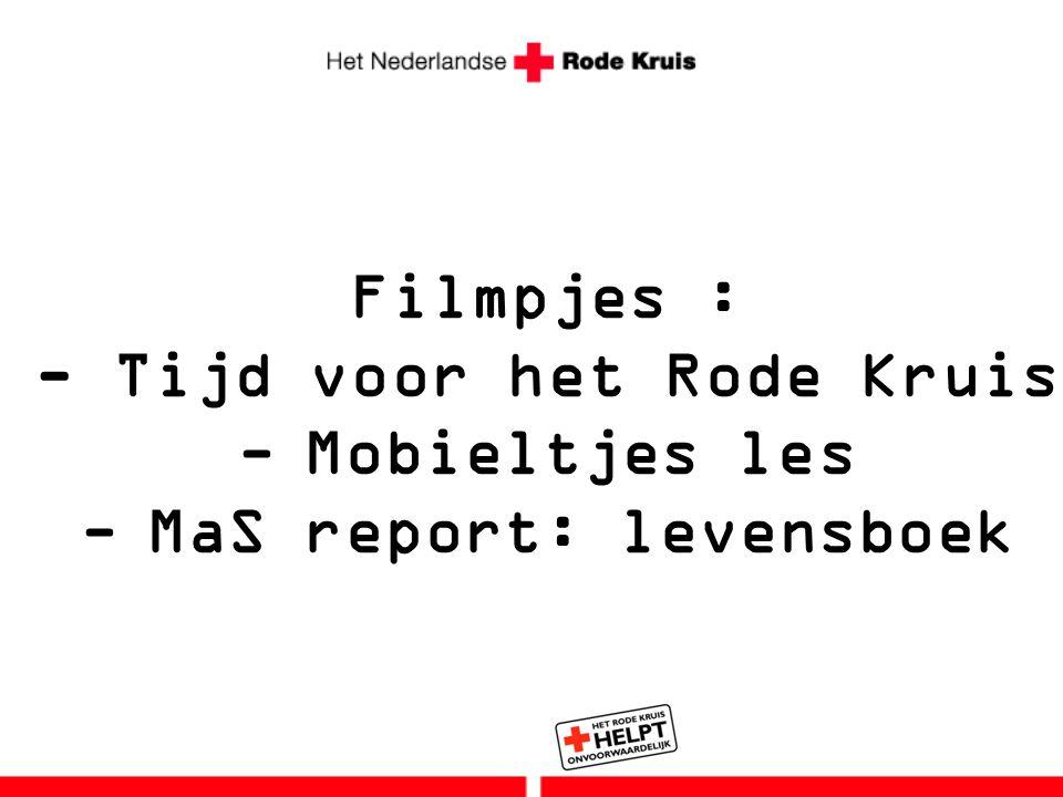 - Tijd voor het Rode Kruis MaS report: levensboek