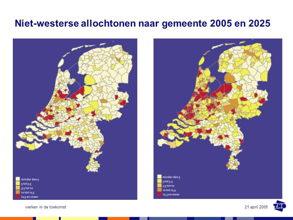 Niet-westerse allochtonen naar gemeente 2005 en 2025