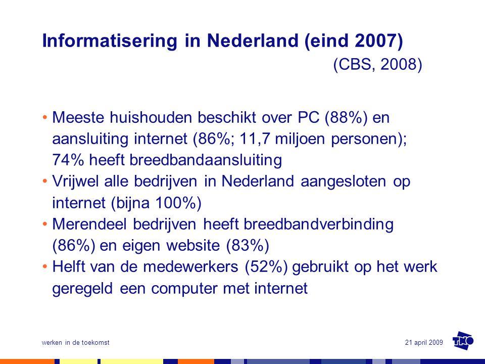 Informatisering in Nederland (eind 2007) (CBS, 2008)