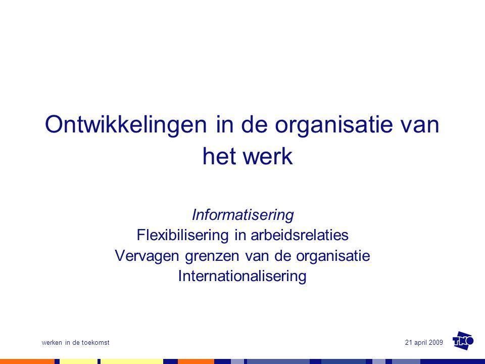 Ontwikkelingen in de organisatie van het werk
