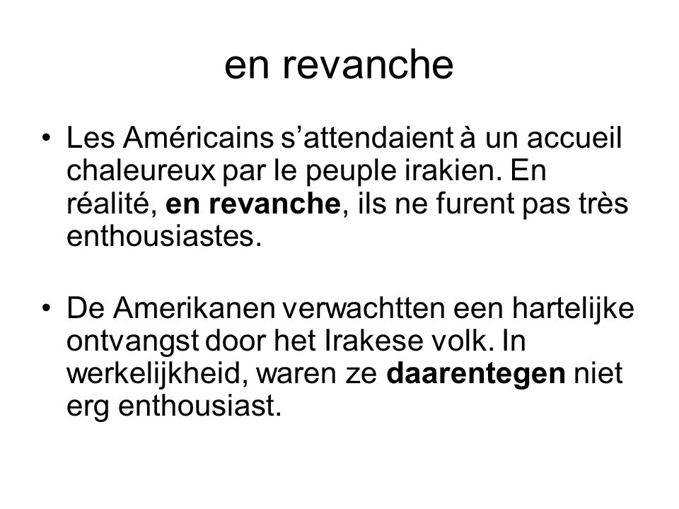en revanche