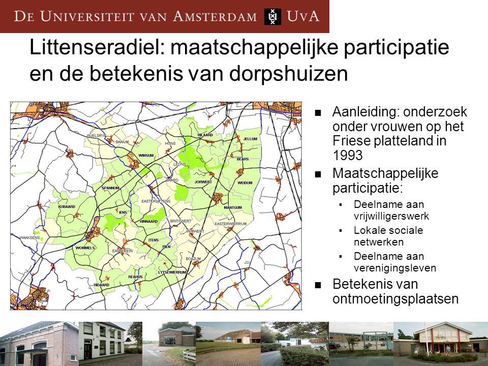 Littenseradiel: maatschappelijke participatie en de betekenis van dorpshuizen