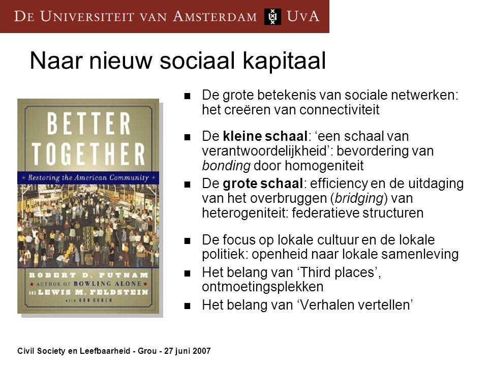 Naar nieuw sociaal kapitaal