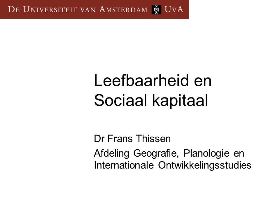 Leefbaarheid en Sociaal kapitaal