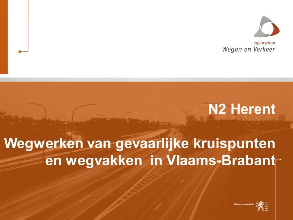 Wegwerken van gevaarlijke kruispunten en wegvakken in Vlaams-Brabant