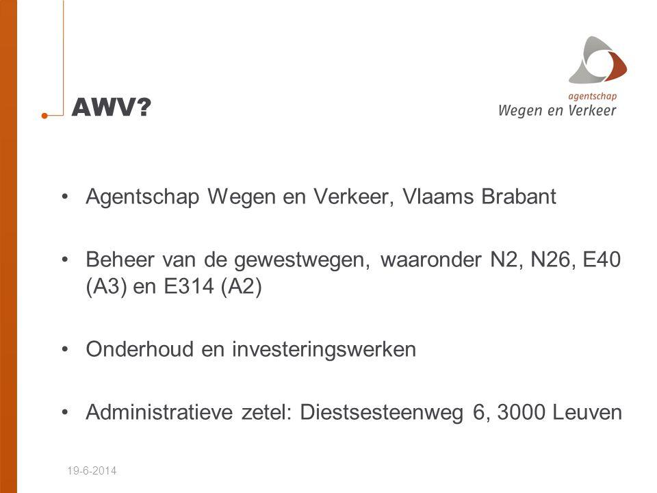AWV Agentschap Wegen en Verkeer, Vlaams Brabant