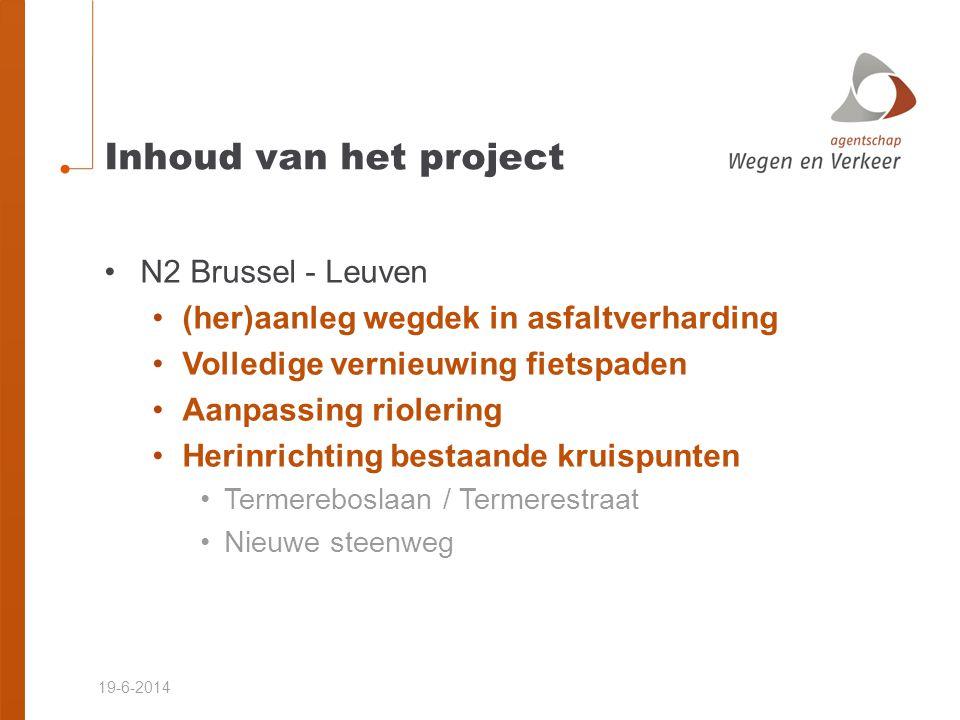 Inhoud van het project N2 Brussel - Leuven