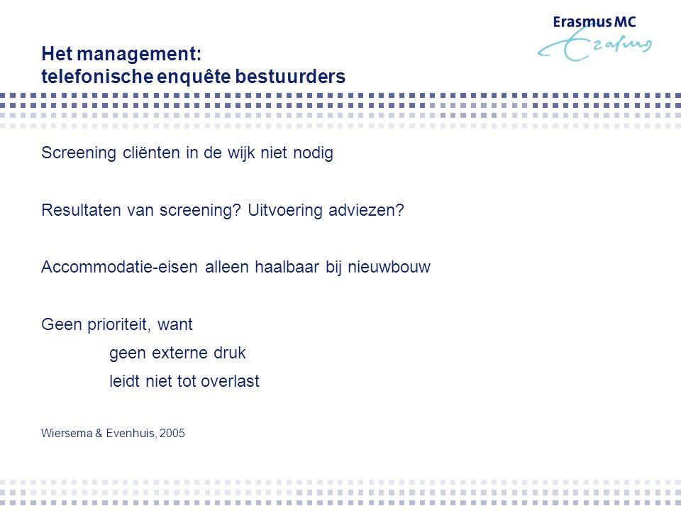 Het management: telefonische enquête bestuurders