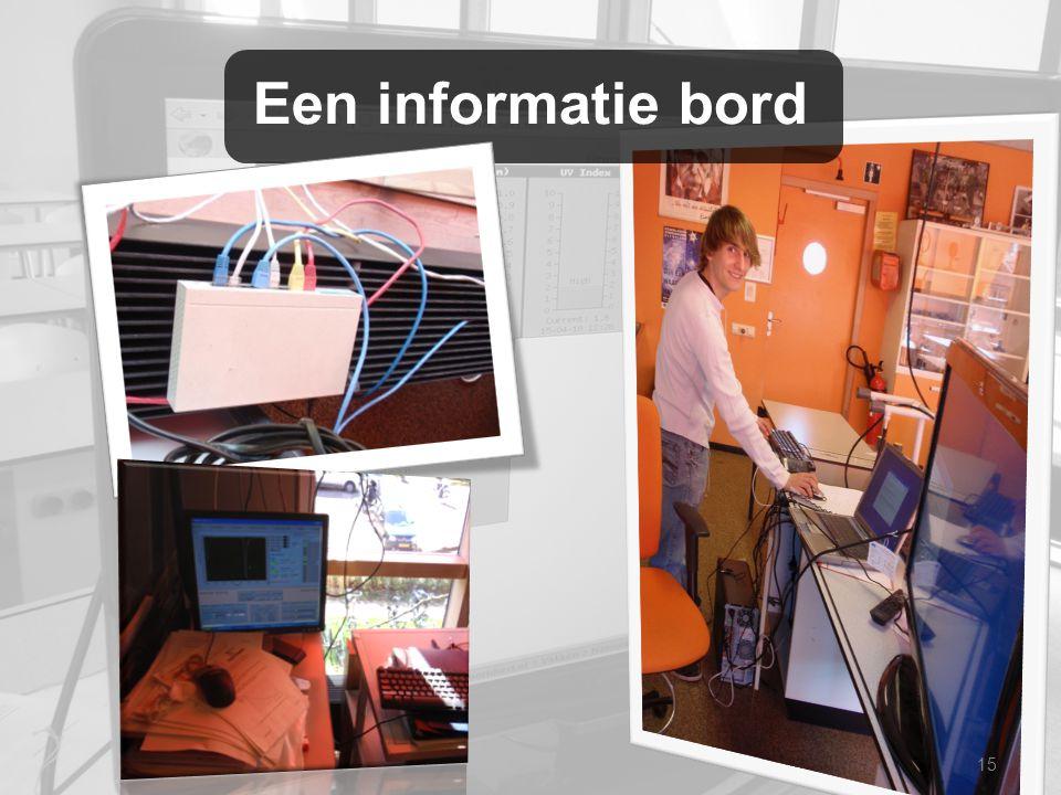 Een informatie bord 15