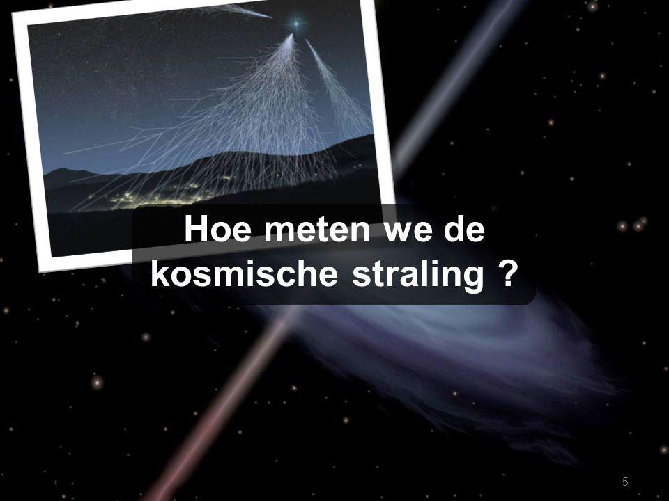 Hoe meten we de kosmische straling