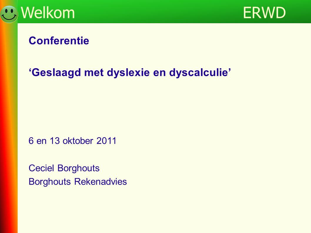 ERWD Welkom Programma ERWD Conferentie
