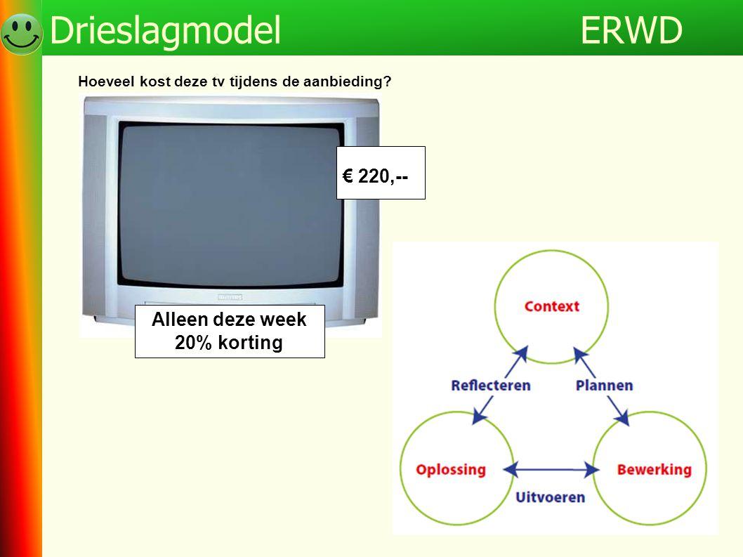 ERWD Drieslagmodel € 220,-- Alleen deze week 20% korting