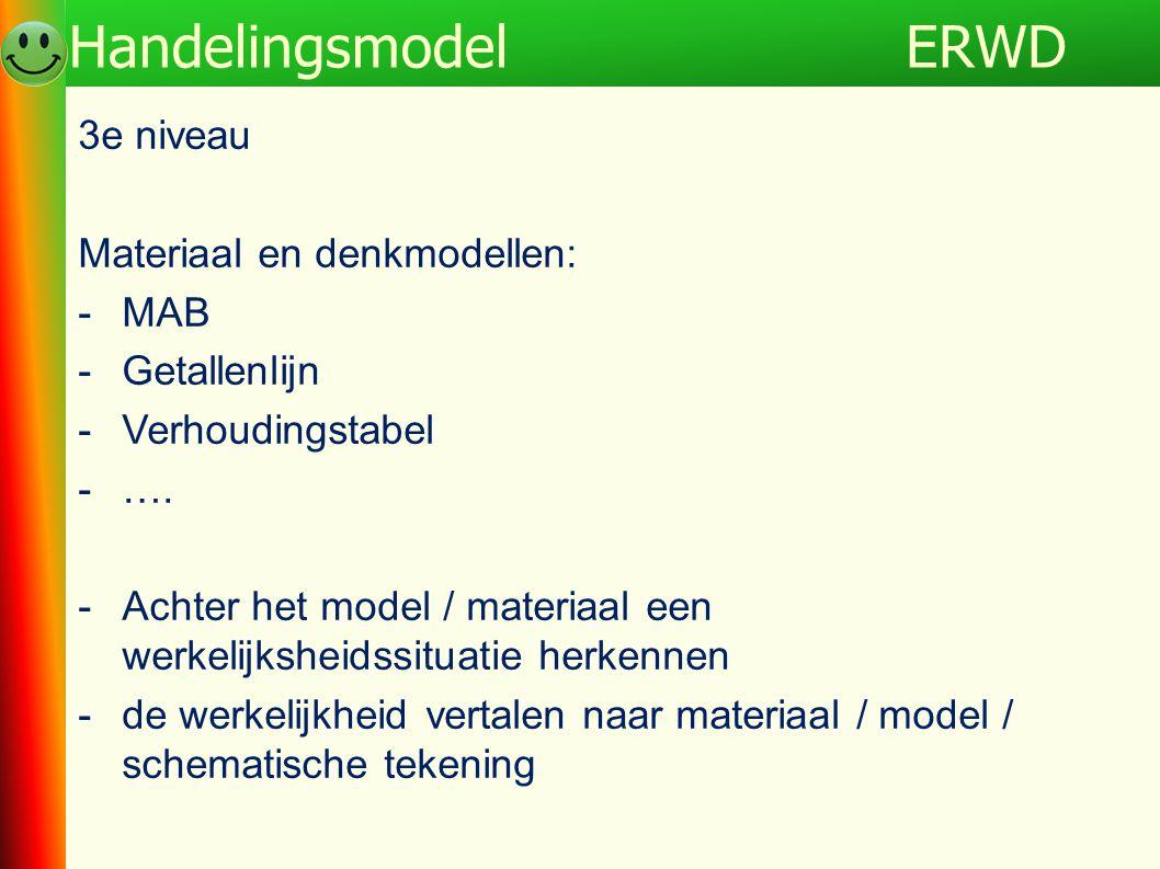 ERWD Handelingsmodel 3e niveau Materiaal en denkmodellen: MAB